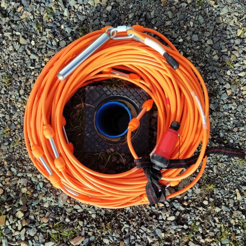 Cable for borehole ERT survey
